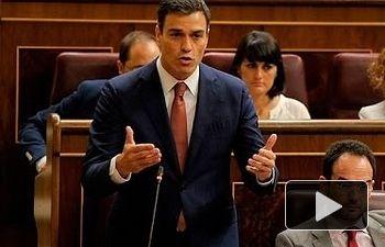 PSOE: Pedro Sánchez denuncia la incapacidad política y el inmovilismo de Rajoy