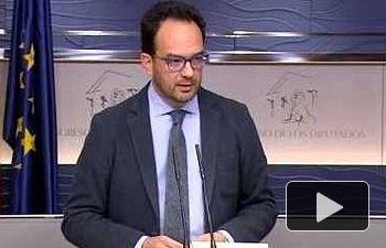 Antonio Hernando tras la reunión PSOE-Podemos-Ciudadanos