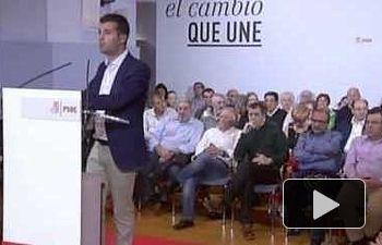 PSOE: Pedro Sánchez  interviene en un acto público con Luis Tudanca