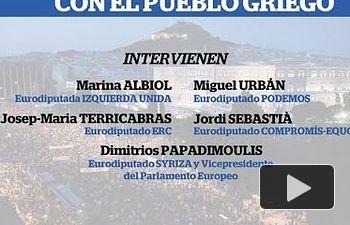 Rueda de Prensa: Solidaridad con el pueblo griego