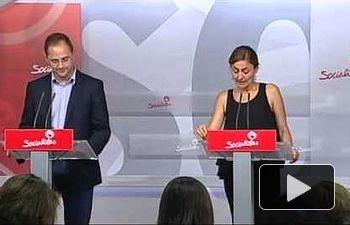 PSOE: Rueda de prensa de César Luena y Mariluz Rodríguez en Ferraz