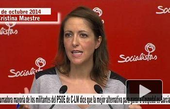 La mayoría de militantes del PSCM-PSOE dice que el mejor para ganar a Cospedal es García-Page
