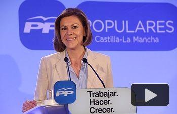 Cospedal en la presentación de la candidatura autonómica del PP