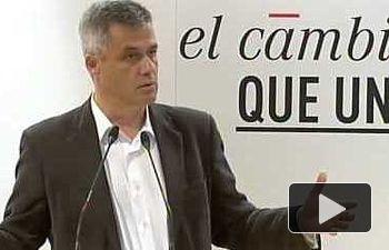 PSOE: Antonio Hernando y Sara Hernández  intervienen en un acto público en Móstoles