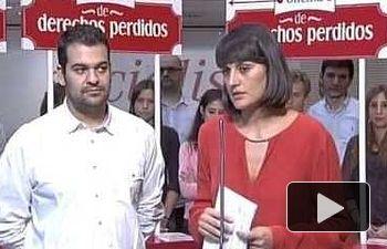 PSOE: María Gonzalez Veracruz -  Presentación campaña Derechos Perdidos