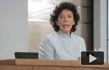 Isabel Celaá - Rueda prensa tras primer Consejo Ministros de Pedro Sánchez - 08-06-18