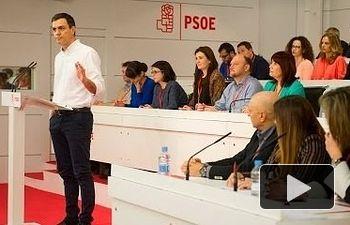 PSOE: No voy a ser Presidente a cualquier precio  - Pedro Sánchez - Comité Federal