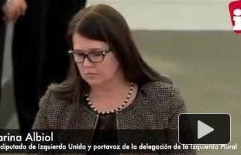 IU: Marina Albiol denuncia la pasividad de la presidencia de la Eurocámara ante los discursos racistas