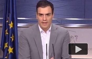 PSOE: Rueda de prensa de Pedro Sánchez