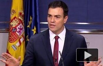 PSOE: Intervención de Pedro Sánchez tras aceptar la propuesta de investidura