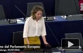IU: Marina Albiol acusa a la UE de abanderar las políticas de la ultraderecha con el nuevo Frontex