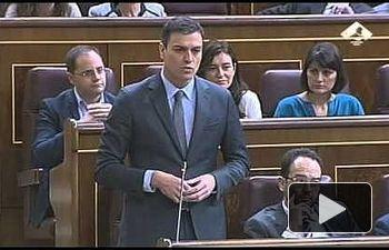 """PSOE: Pedro Sánchez a Rajoy: """"Si usted no ofrece soluciones, se convierte en parte del problema"""""""
