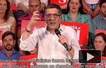 "Patxi López: ¡Socialistas, en pie!"""