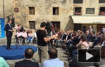 """Alonso: """"Nuestro proyecto político quiere ser una alternativa de convivencia en el País Vasco"""""""