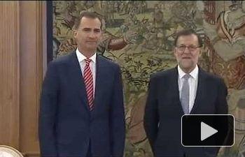 S.M. el Rey recibe al representante del PP, Mariano Rajoy