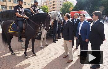 Visita al Punto de Seguridad en la Feria de Albacete 2017
