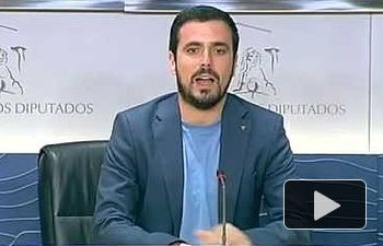 """IU: Alberto Garzón dice que los presupuestos están diseñados para """"desguazar"""" el empleo"""
