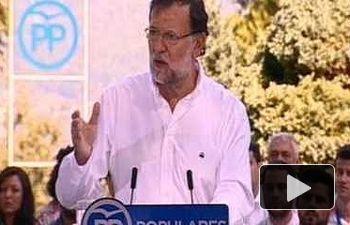 """Rajoy: """"Algunos están juntos para romper, pero somos más los que estamos juntos para unir"""""""