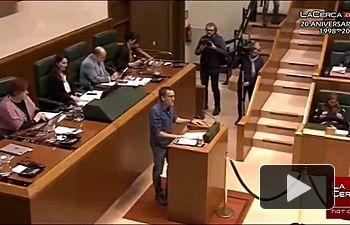Bronca en el Parlamento Vasco - Bildu - 04-04-2019