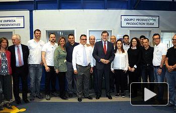Cospedal y Rajoy con los trabajadores de la empresa Witzenmann Española