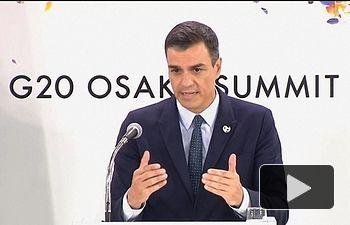 Pedro Sánchez - Rueda prensa Cumbre G20 - Osaka - Japón - 29-06-19