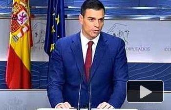 PSOE: Pedro Sánchez en Rueda de Prensa tras la reunión con el Rey
