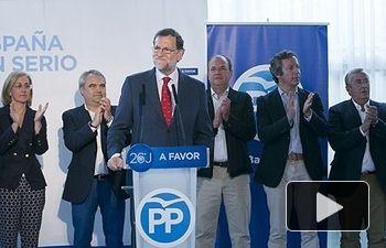 Mariano Rajoy interviene en un acto en Badajoz