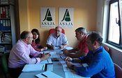 El Comité Técnico de ASAJA CLM analiza la propuesta de modificación del PDR 2014-2020. Foto: ASAJA CLM.