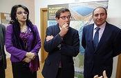 Carlos Cabanas analiza con la Comunidad de Regantes de Payuelos las previsiones de obras de regadío en la zona. Foto: Ministerio de Agricultura, Alimentación y Medio Ambiente