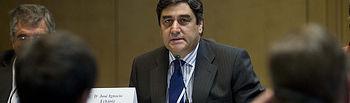 El secretario ejecutivo de Sanidad y Asuntos Sociales del PP, José Ignacio Echániz