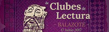 Cartel XV Encuentro Provincial de Clubes de Lectura -Balazote- 17 de junio.
