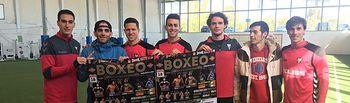 El Albacete Balompié se vuelca con lo boxeadores albaceteños