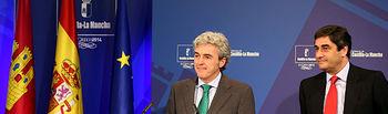 Leandro Esteban y Echániz en la rueda de prensa del Consejo de Gobierno 2.jpg. Foto: JCCM.