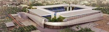 Representación del estadio de Cuiabá en Brasil