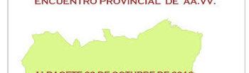 Cartel I Encuentro Provincial de AAVV