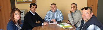 Javier cuenca, durante su reunión con la Asociación.