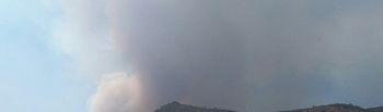 Incendio en Yeste. Foto Twitter: @rafgarcia87