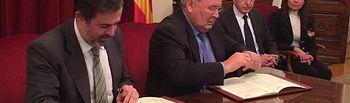 Protocolo redacción embalse Biscarrués, Huesca. Foto: Ministerio de Agricultura, Alimentación y Medio Ambiente