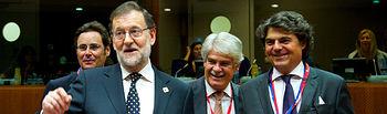 El presidente del Gobierno en funciones, Mariano Rajoy, al comienzo del Consejo Europeo que se celebra los días 20 y 21 de octubre en Bruselas.