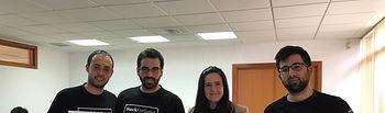 Equipo DQTeam de la Escuela Superior de Informática, creador del proyecto DISYS. Foto de la Cátedra UCLM-Telefónica.