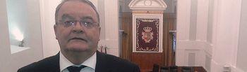 El senador Juan Antonio de las Heras en las Cortes de Castilla-La Mancha.