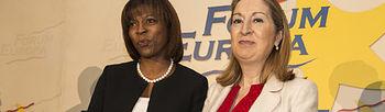 La Ministra de Fomento Ana Pastor y la Directora del Programa Mundial de Alimentos Ertharin Cousin (Foto:Ministerio)