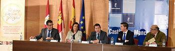l presidente de Castilla-La Mancha, Emiliano García-Page, inaugura en la Fábrica de Harinas de Albacete, las I Jornadas Regionales sobre Indicaciones Geográficas Protegidas No Alimentarias (IGPs). Foto: JCCM.