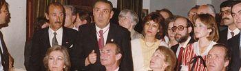 Rufino Miranda con los Reyes.
