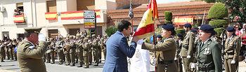 Jura de Bandera Civil organizada por la BRISAN (Brigada Sanitaria del Ejército de Tierra) bajo el estandarte de la Agrupación Hospital de Campaña.