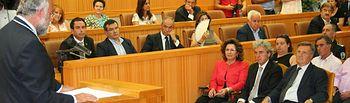 Leandro Esteban asiste a la toma de posesión de Jaime Ramos como alcalde de Talavera. Foto: JCCM.