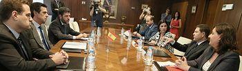 Reunión del presidente García-Page con el ministro de Industria. Foto: JCCM.