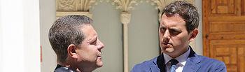 El presidente de Castilla-La Mancha, Emiliano García-Page, mantiene una reunión con el presidente de Ciudadanos, Albert Rivera, en el Palacio de Fuensalida. (Fotos: Álvaro Ruiz // JCCM)