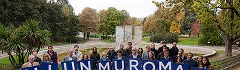 Visita a los restos del Muro de Berlín con motivo del 25 aniversario de su derrumbamiento