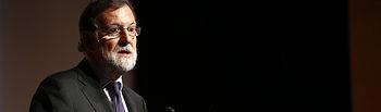 """El presidente del Gobierno, Mariano Rajoy, interviene en la clausura de las jornadas """"La industria en España. Reflexiones""""."""
